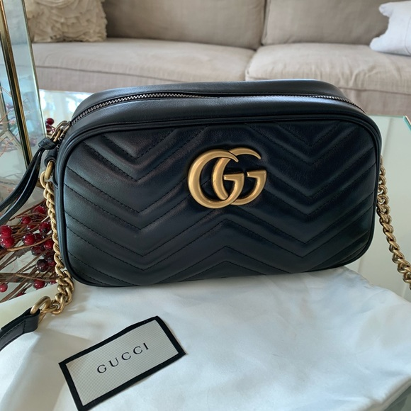 7ba003af34556f Gucci Bags | Gg Marmont Camera Small Quilted Leather Bag | Poshmark